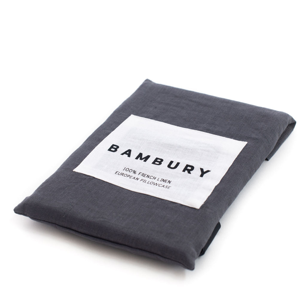 French European Pillowcase (Charcoal)
