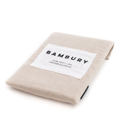 French European Pillowcase (Pebble)