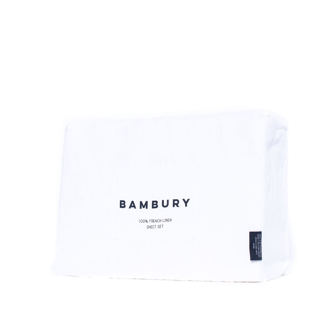 Linen Sheet Set Queen (Ivory)