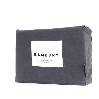 Linen Sheet Set Queen (Charcoal)