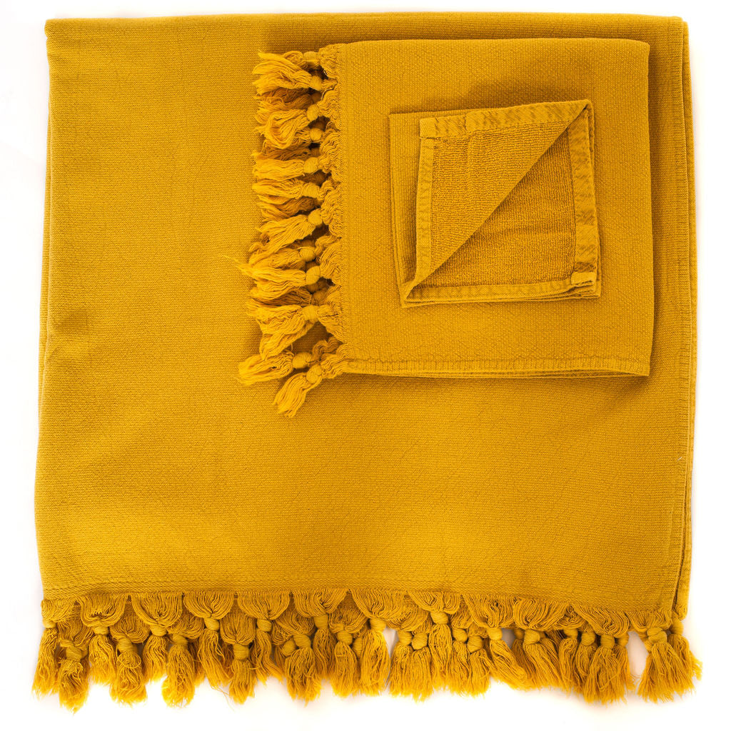 Vintage Wash Towels (Saffron)