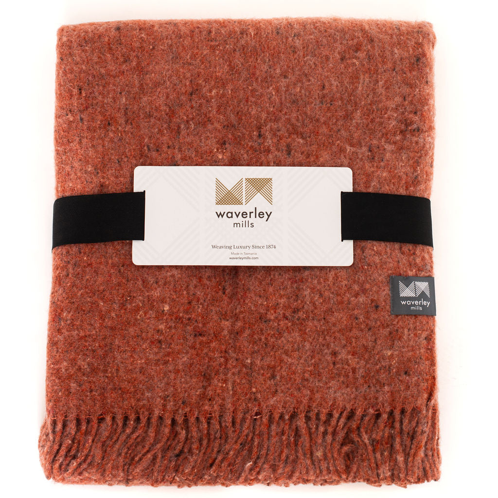 Recycled Tonal Throw (Rust)