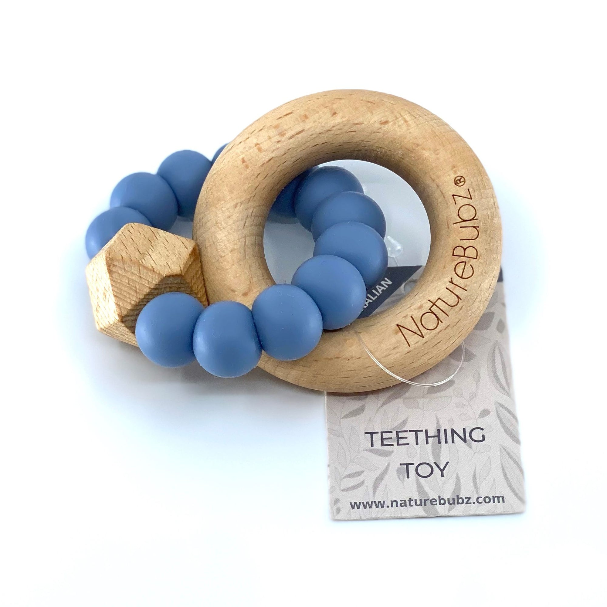 Hexa Teether with Beech Ring (Storm)
