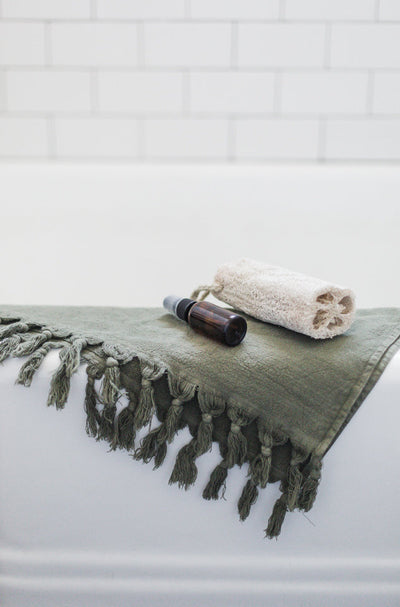Vintage Wash Towels (Olive)