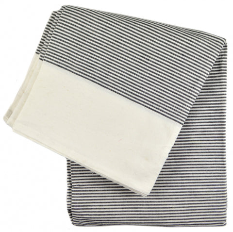 Pinstripe Tablecloth (White)