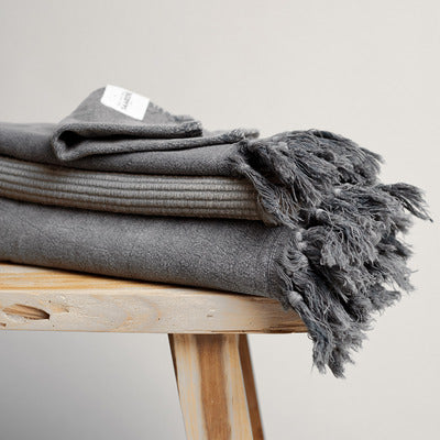 Vintage Wash Towels (Charcoal)