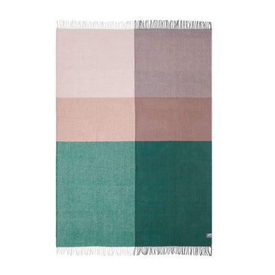 Plaid Merino Throw (Pink & Green)