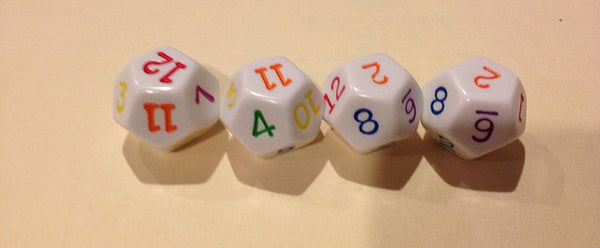12 Sided Rainbow Dice