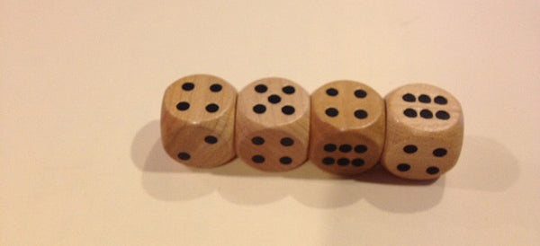 16MM Spotted Wood Dice