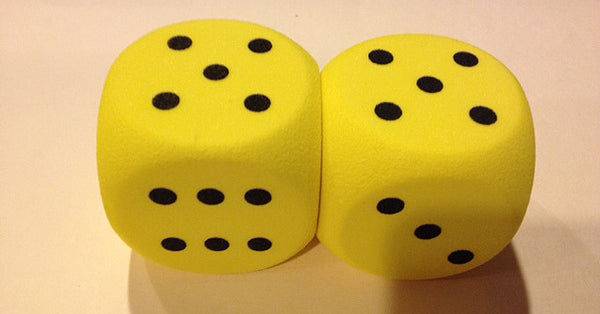 50MM Spotted Foam Dice