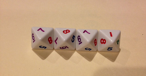 8 Sided Rainbow Dice