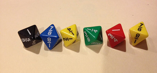 8 sided Math Fraction Dice
