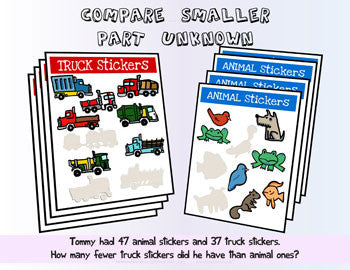 Compare Smaller Part Unknown - Animal Stickers