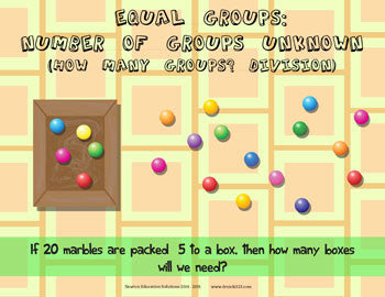 Equal Groups: Number of Groups Unknown - Marbles