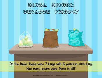 Equal Groups: Unknown Product - Bags