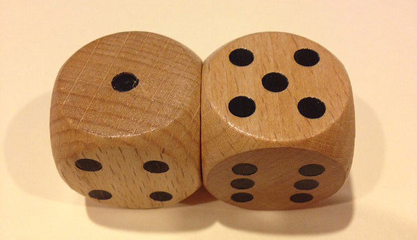LG Spotted Wood Dice