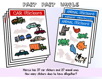 Part Part Whole Car Stickers