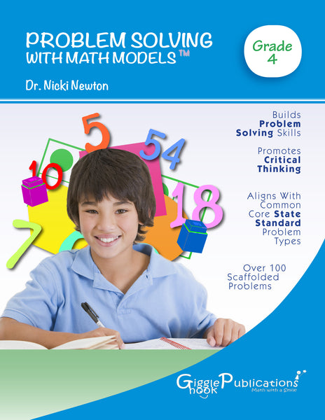 Problem Solving With Math Models Grade 4 (Black & White)