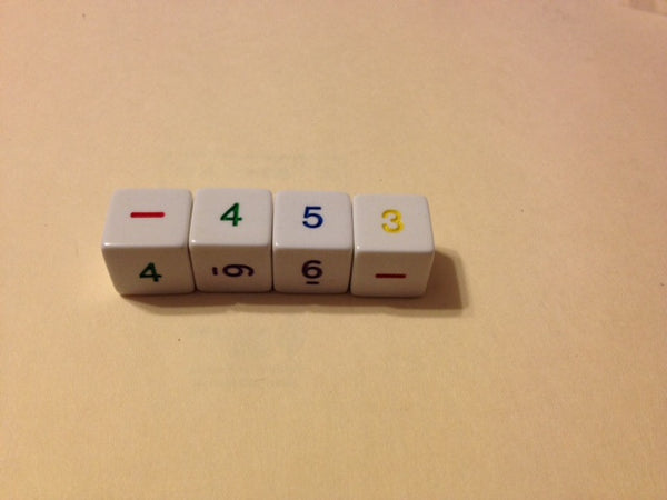 Rainbow Number Dice