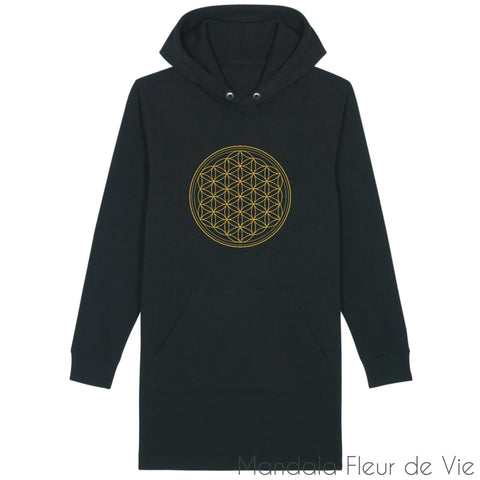 Robe Sweat Fleur de Vie Or