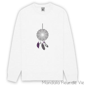 Sweat mandala attape rêves blanc