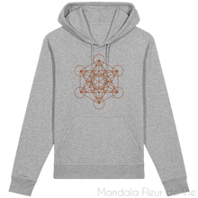 Charger l'image dans la galerie, Sweat-Shirt Metatron Marron-Heather Grey-XXS-Mandala Fleur de vie