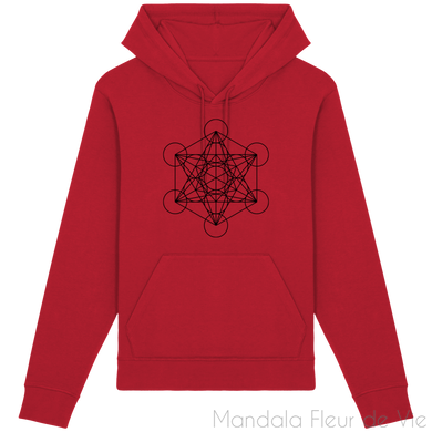 Sweat-Shirt Metatron Noir-Red-XS-Mandala Fleur de vie