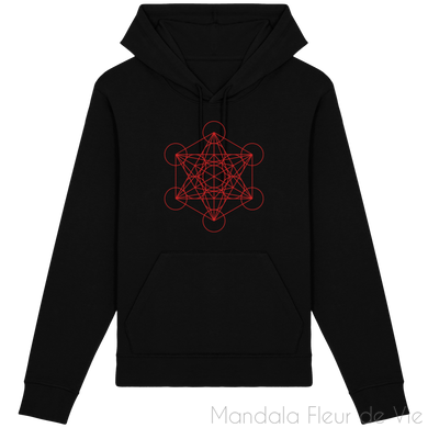 Sweat-Shirt Metatron Rouge-Black-XXS-Mandala Fleur de vie