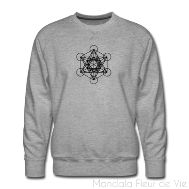 Sweatshirt Design Cube de Metatron - heather gray