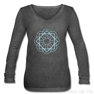 T-Shirt Femme Motif Mandala - deep heather