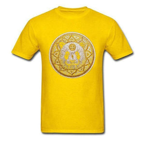 T Shirt Mandala Animaux<br> Mandala Panda-Yellow-XL-