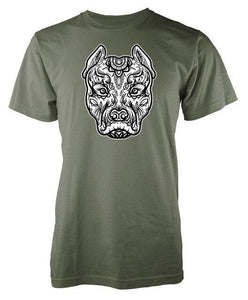 T Shirt Mandala Animaux<br> Pitbull-1-S-