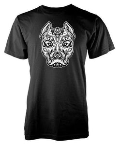 T Shirt Mandala Animaux<br> Pitbull-10-L-