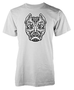 T Shirt Mandala Animaux<br> Pitbull-3-S-