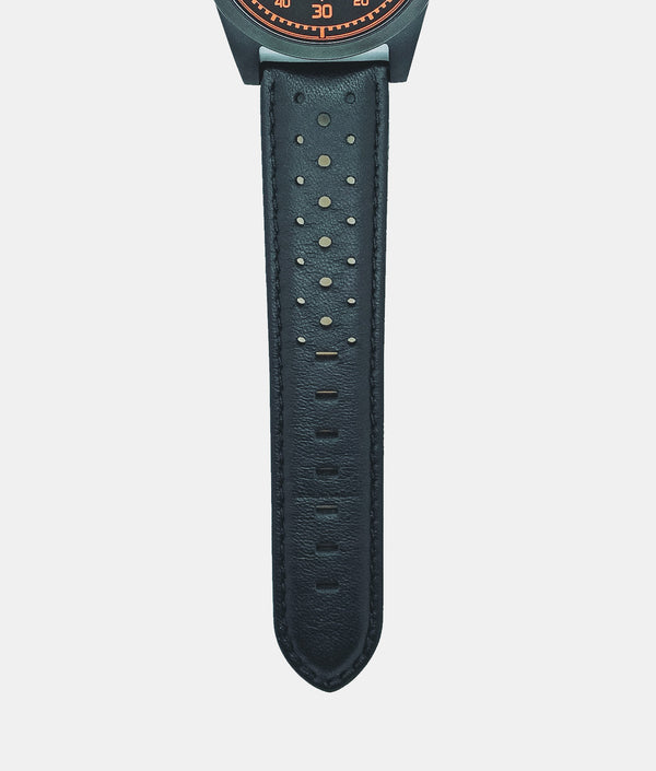 Black Rally Leather Strap Only