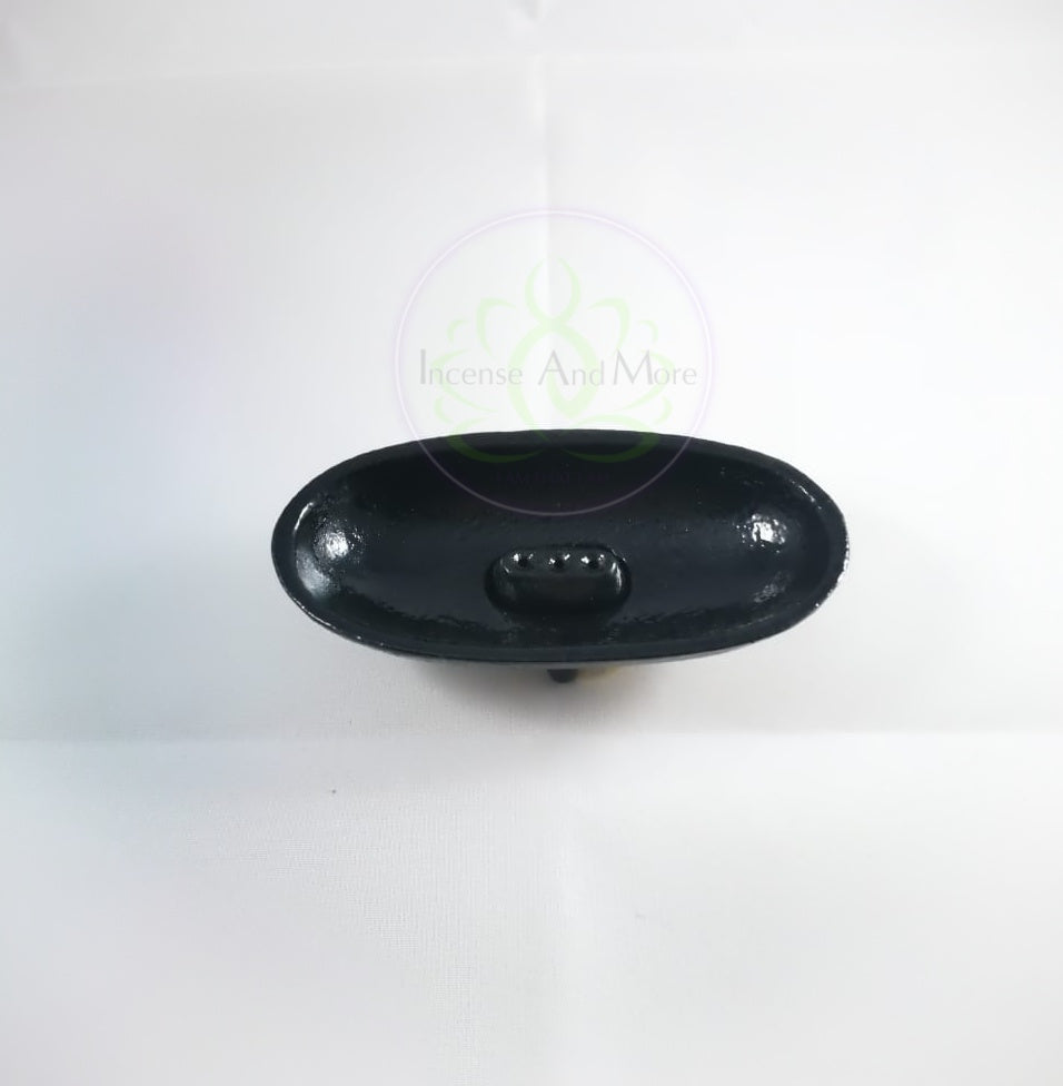 Cast Iron Canoe Smudge Pot & Incense Burner