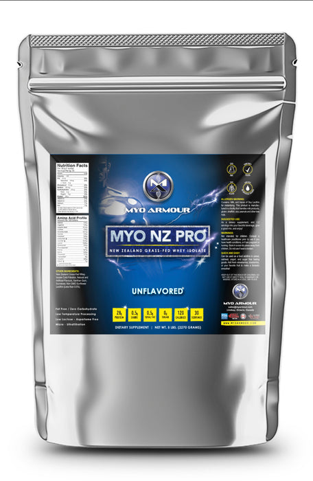 Myo NZ Pro New Zealand Grass-Fed Whey Isolate 5lbs - 80 servings