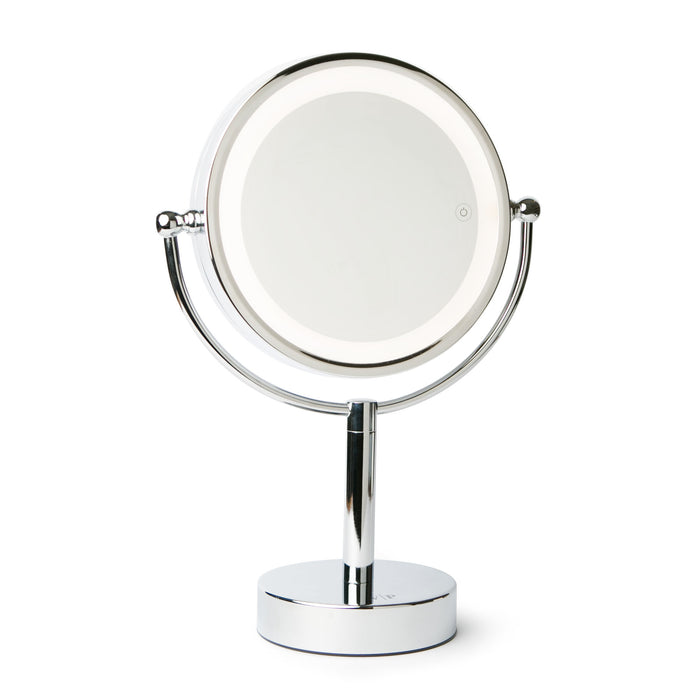Vanity Planet Gleam Dual-Sided 1X/7X Magnifying Mirror with 3 LED Light Settings