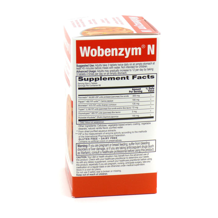 Garden Of Life Wobenzym N Healthy Inflammation And Joint Support Tablets - 200 Ea