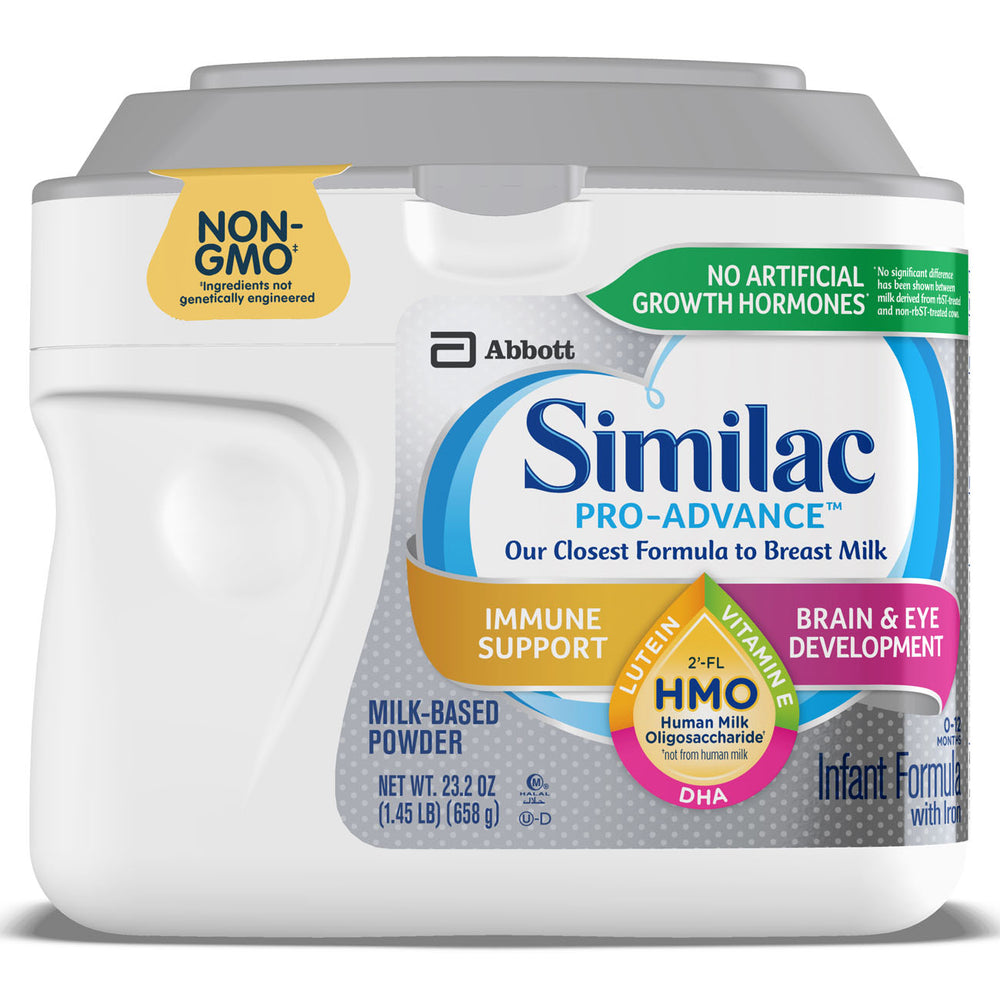 Similac Pro-Advance Non-GMO with 2'-FL HMO Infant Formula with Iron for Immune Support, Baby Formula 23.2 oz Tub