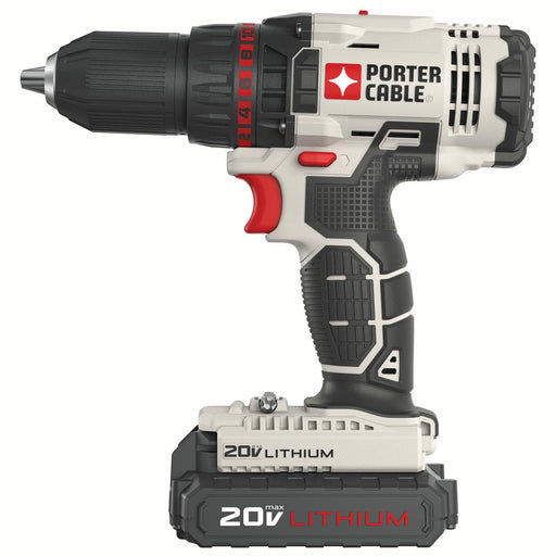 PORTER CABLE 20-Volt Max 1/2-Inch Lithium-Ion Compact Cordless Drill, PCC601LB