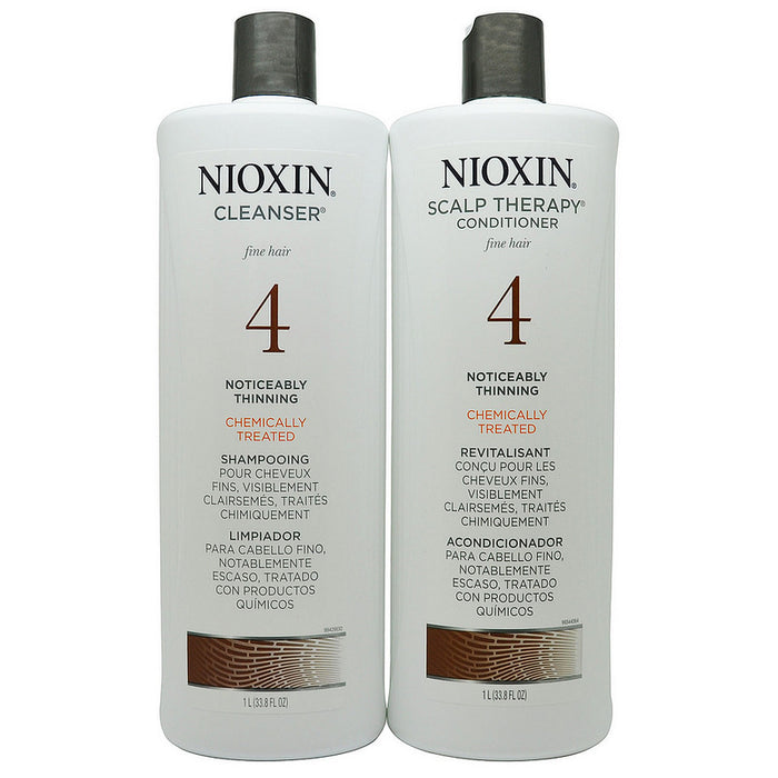 Nioxin System 4 Cleanser & Scalp Therapy Liter Duo, 33.8 Fl Oz