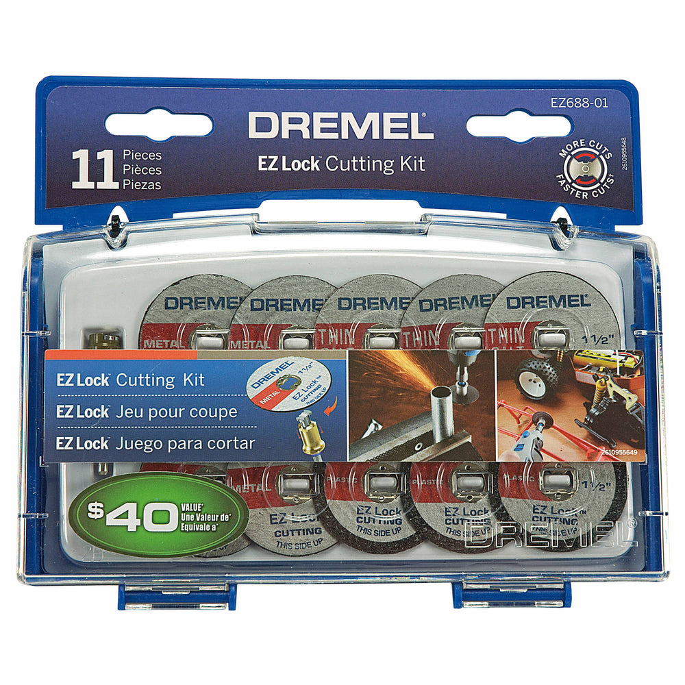 Dremel EZ688-03 Rotary Tool EZ Lock Cutting Kit, 11-Piece