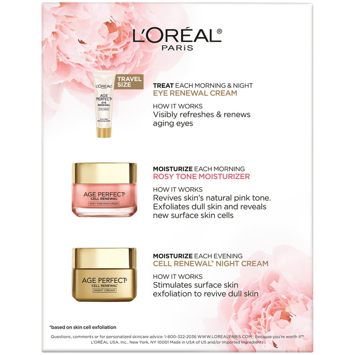 L'Oreal Paris Skincare Age Perfect Regimen Kit, 3 Piece Set