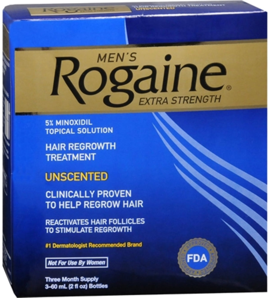 Rogaine Men's Extra Strength Unscented 6 oz (Pack of 4)