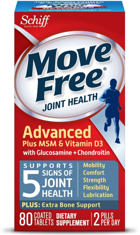 Move Free Advanced Plus MSM and Vitamin D3 Joint Health Supplement with Glucosamine and Chondroitin 80 ct