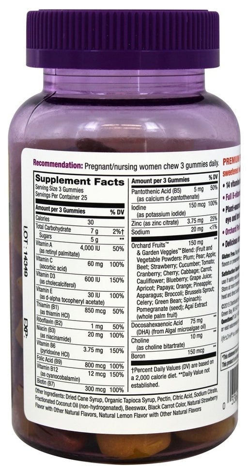 Nature's Way Alive! Prenatal Premium Gummy Multivitamin with DHA, 75 Count