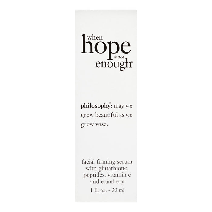 Philosophy When Hope is Not Enough Facial Firming Serum, 1 Oz