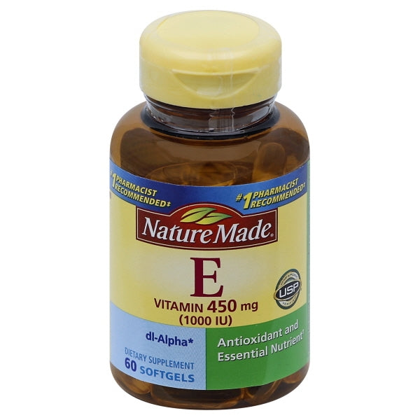 Nature Made - Vitamin E dl-Alpha 400 mg. - 60 Liquid Softgels