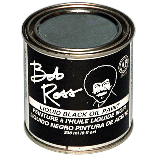 Bob Ross Liquid Base Coat, Black, 8 oz.